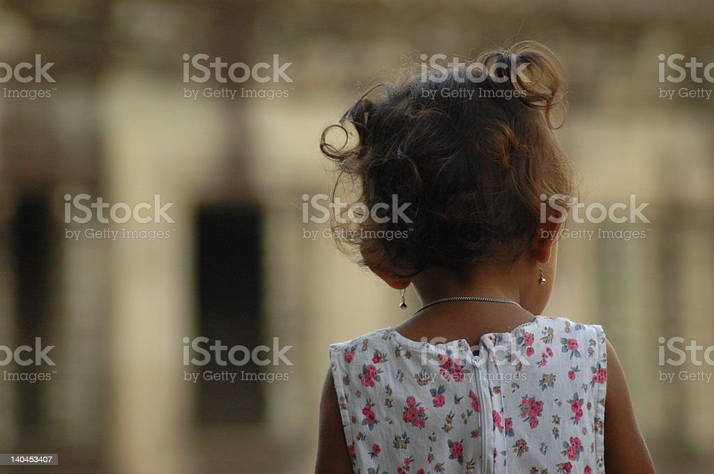 Back of little girl royalty-free stock photo