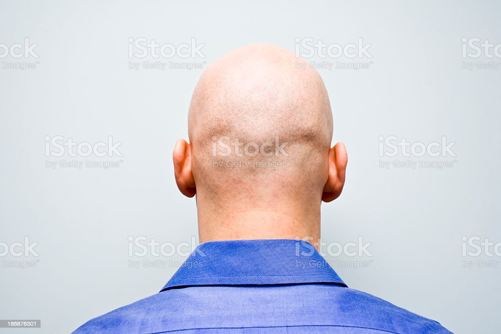 Back of man's bald head stock photo