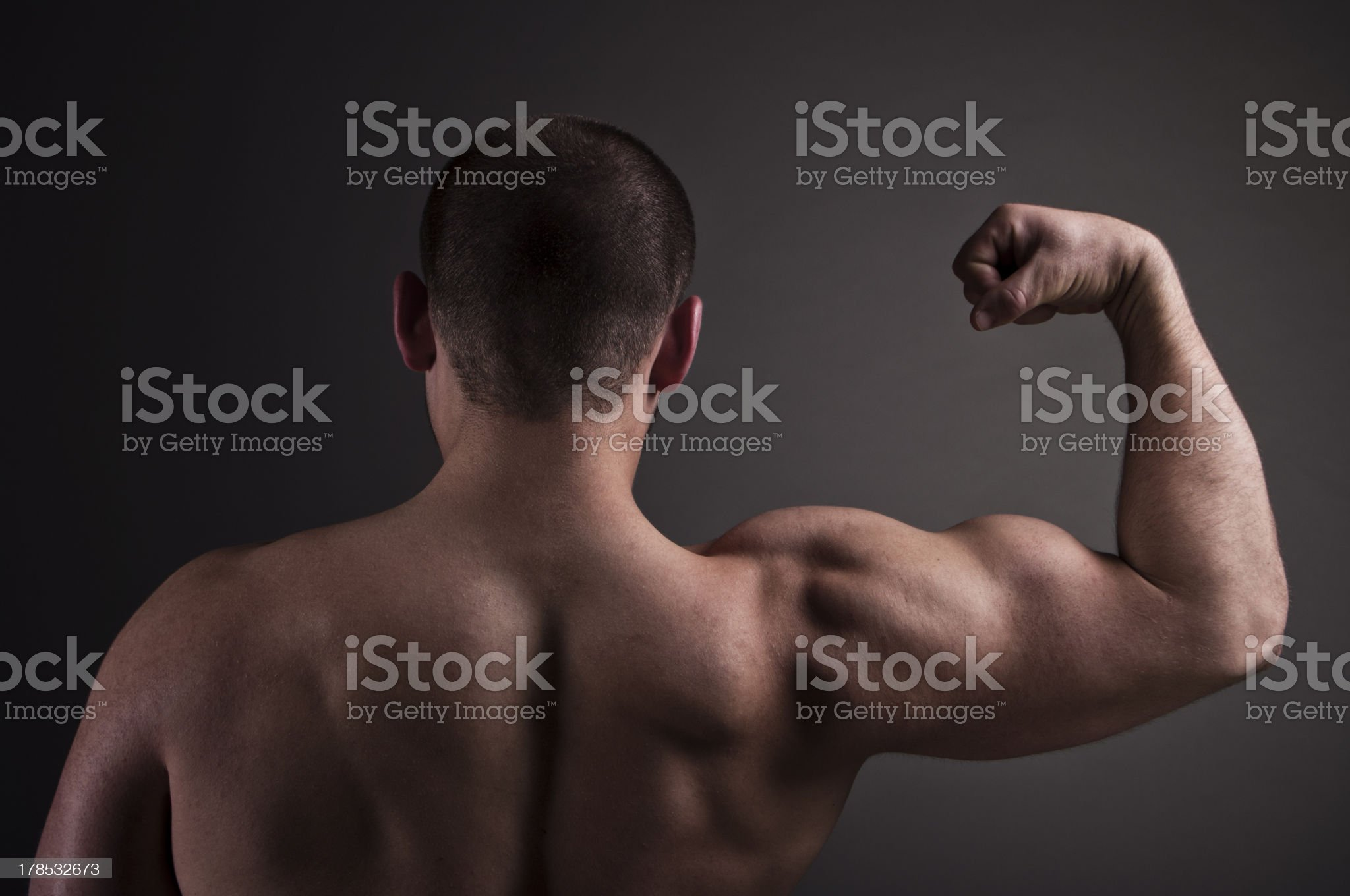 Back of Muscular man royalty-free stock photo