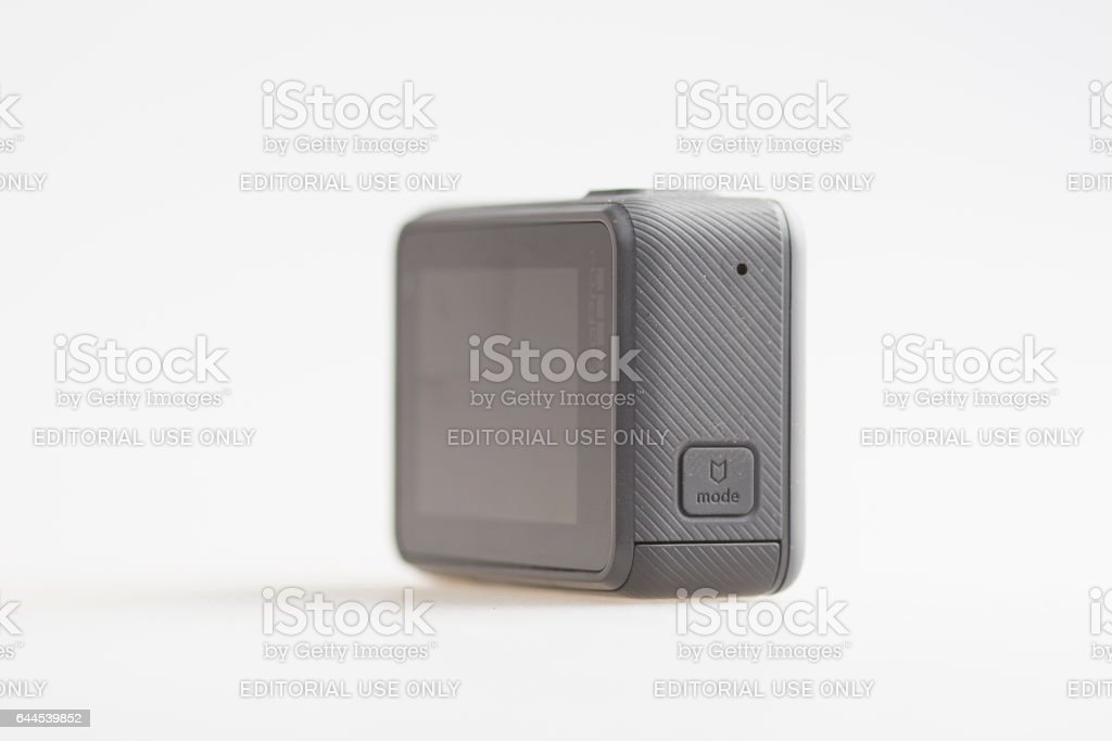 Back of the GoPro Hero 5 Action Camera stock photo