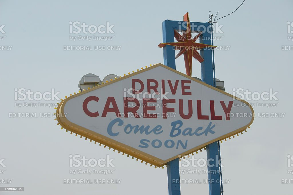 Back of the Las Vegas Sign stock photo