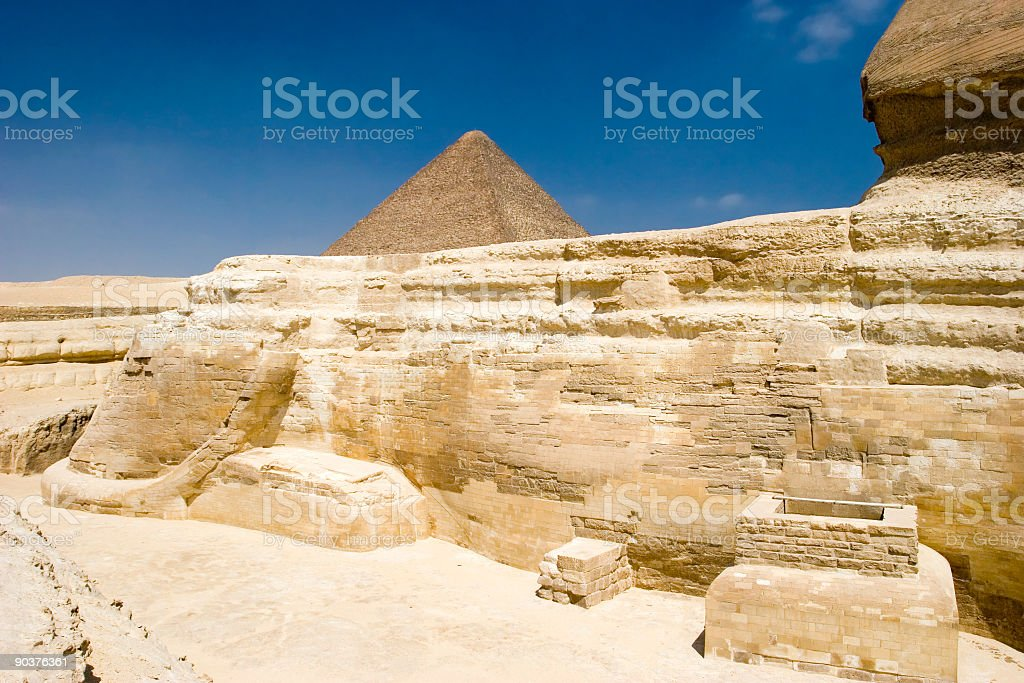 Back of the Sphinx stock photo