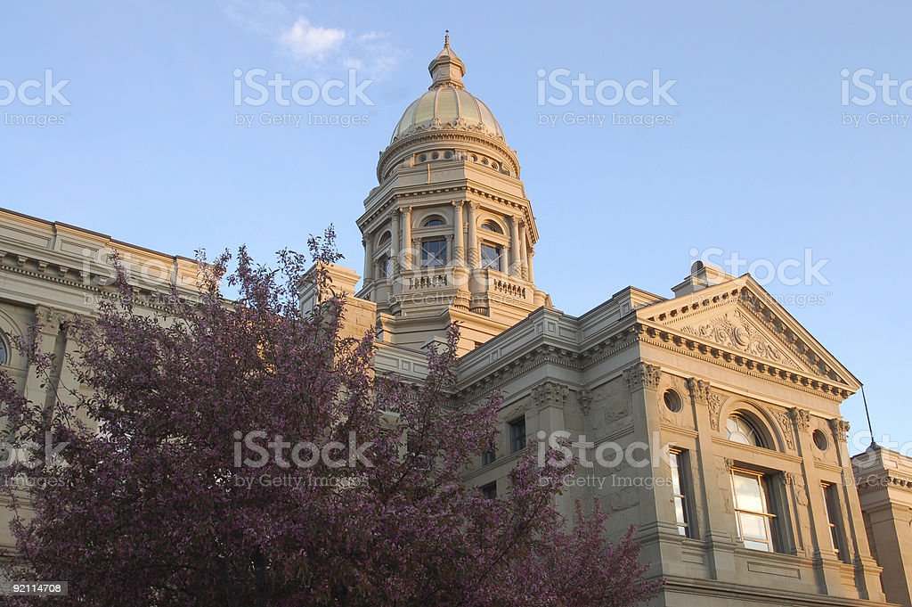 Back of the Wyoming State Capitol royalty-free stock photo