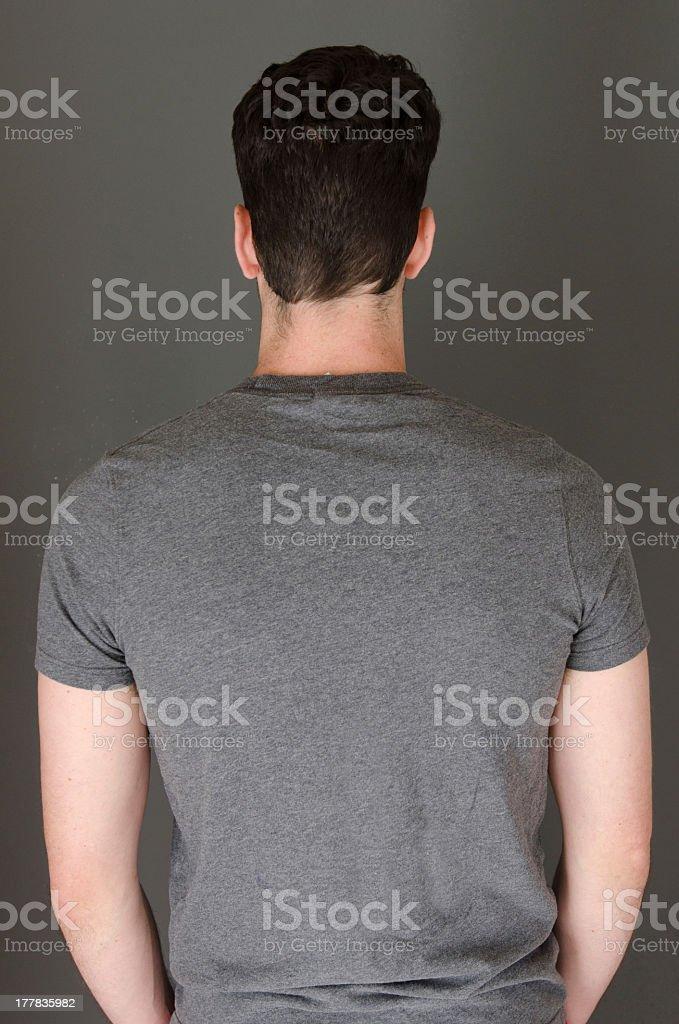 Back of t-shirt stock photo