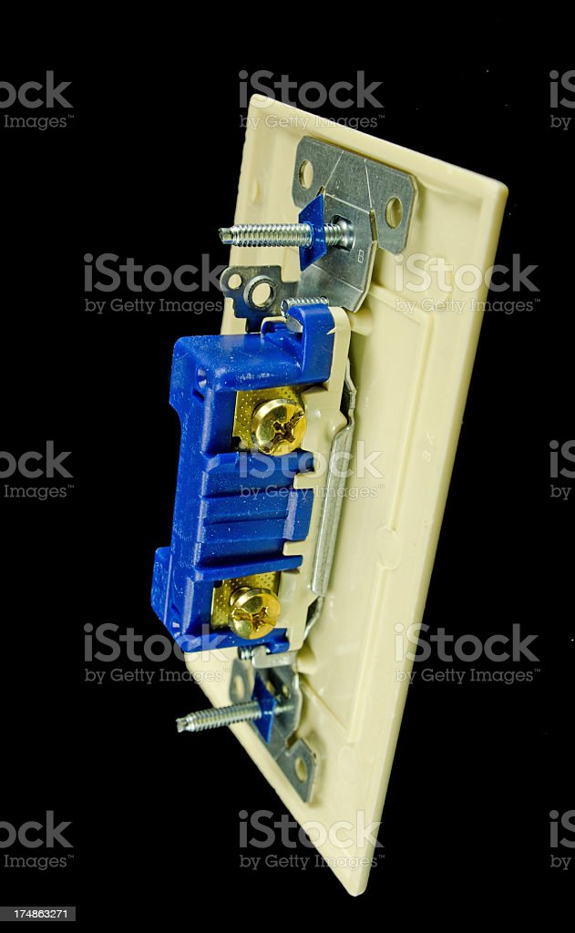 Back of Wall Light Switch royalty-free stock photo