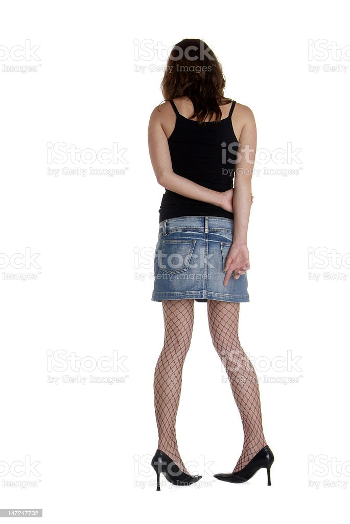 back of woman stock photo