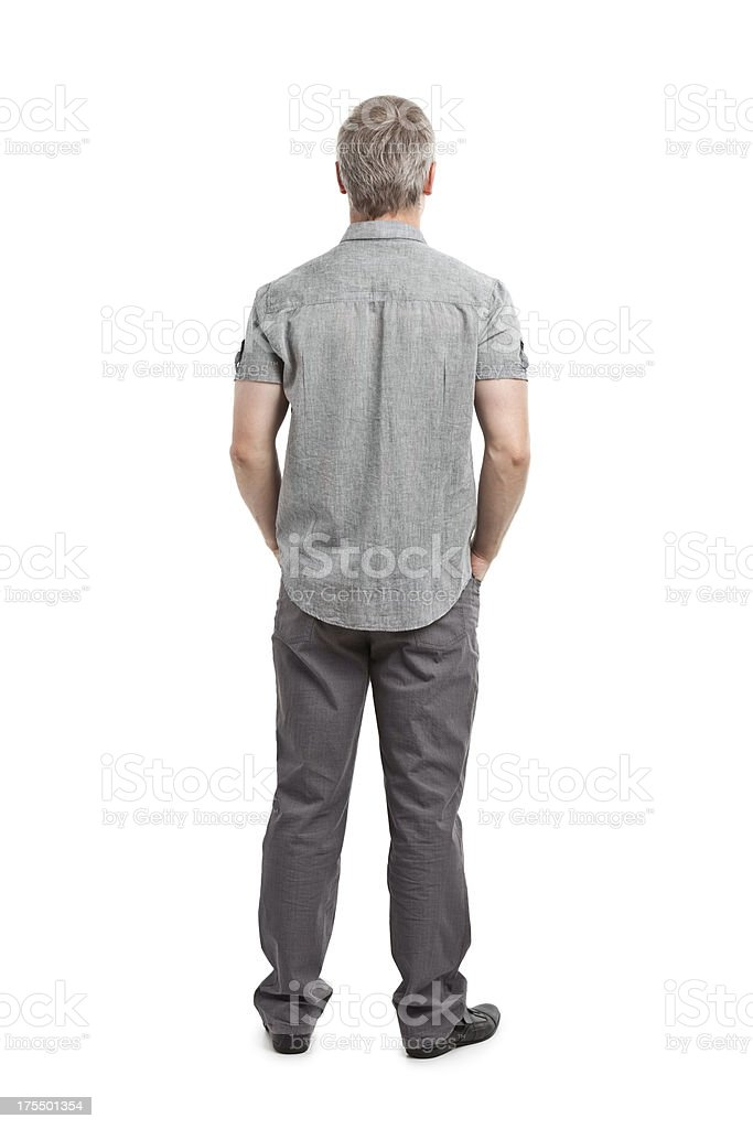 back of young adult stock photo