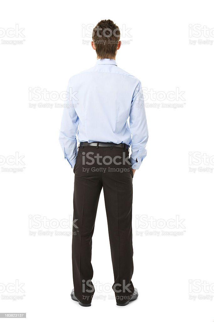 back of young businessmen royalty-free stock photo