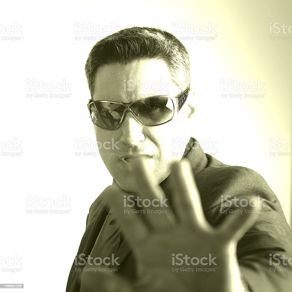 Back off! royalty-free stock photo