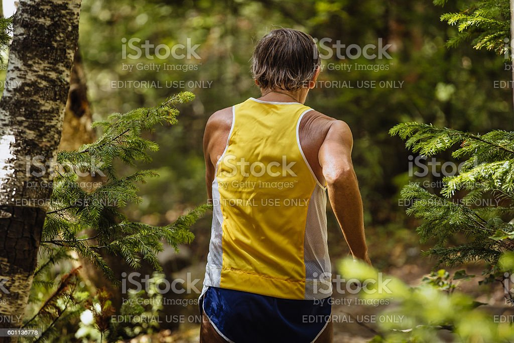 back old male runner marathon running royalty-free 스톡 사진