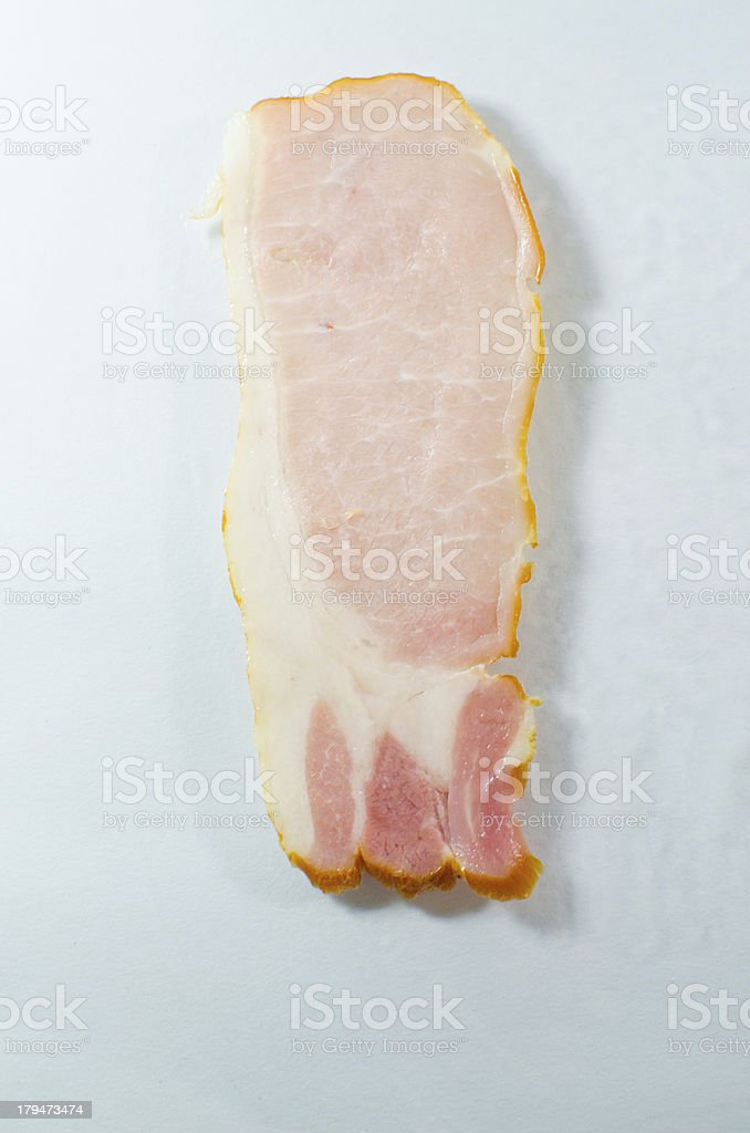 Back  or Canadian bacon royalty-free stock photo