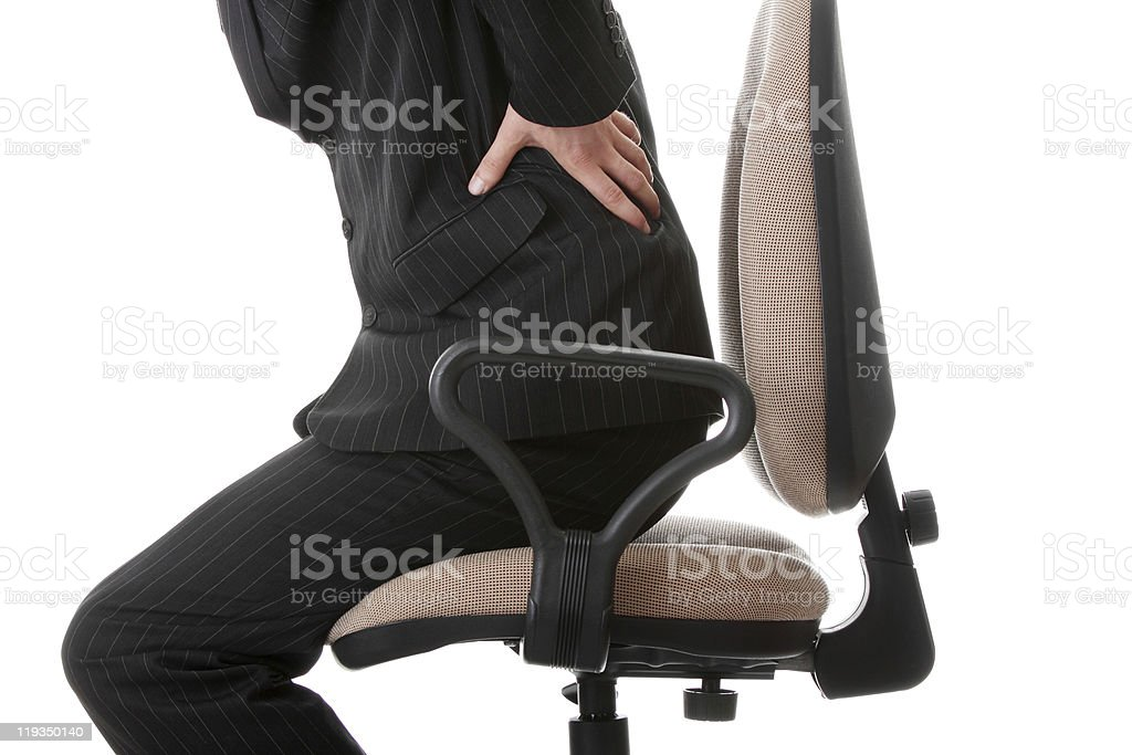 Back Pain - at work royalty-free stock photo