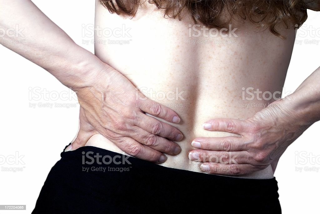 back pain color royalty-free stock photo