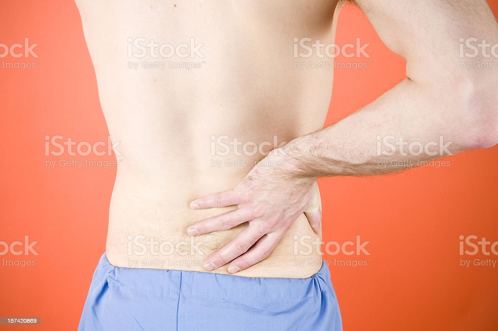 Back Pain on Orange royalty-free stock photo