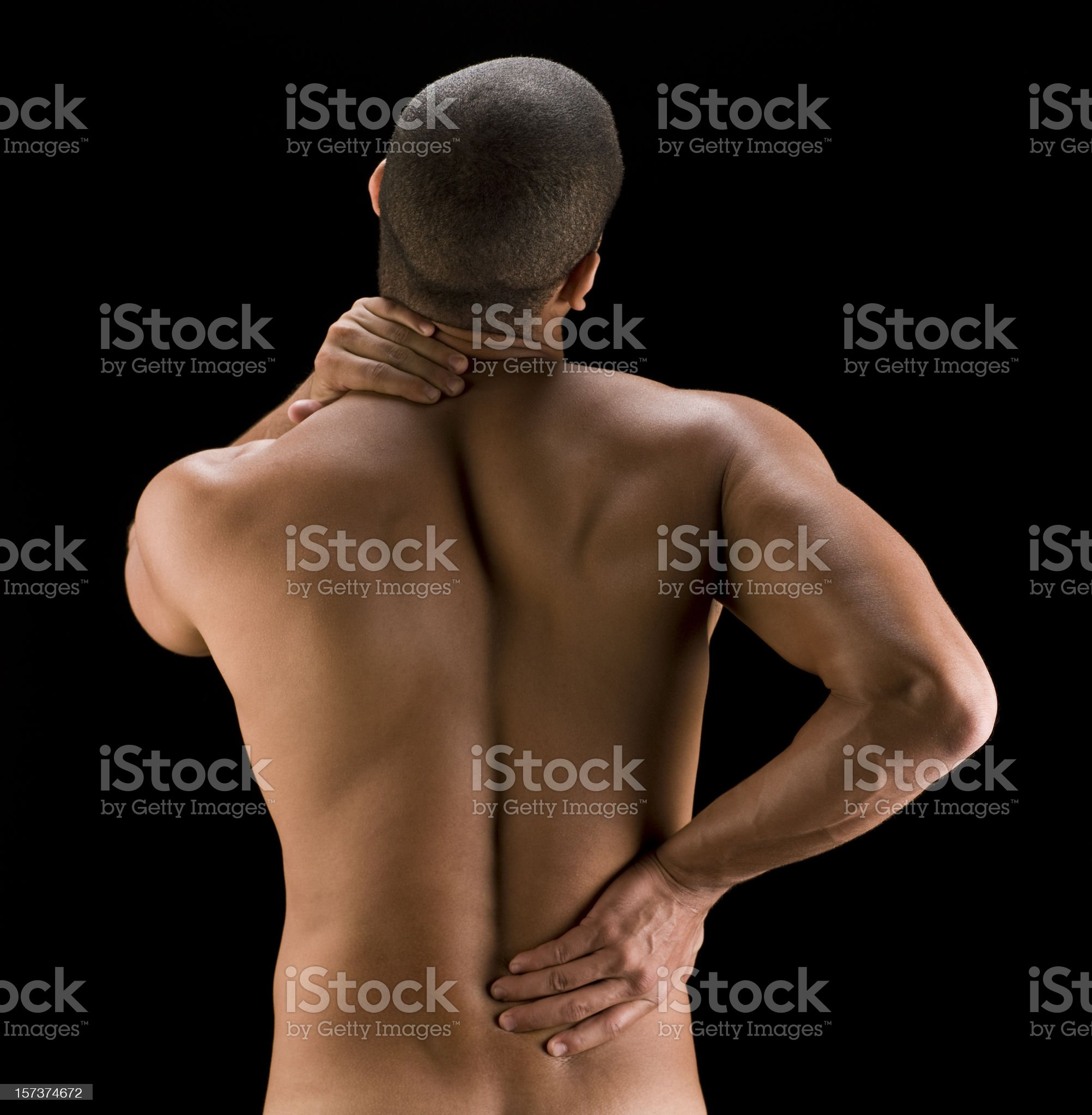 Back pain royalty-free stock photo