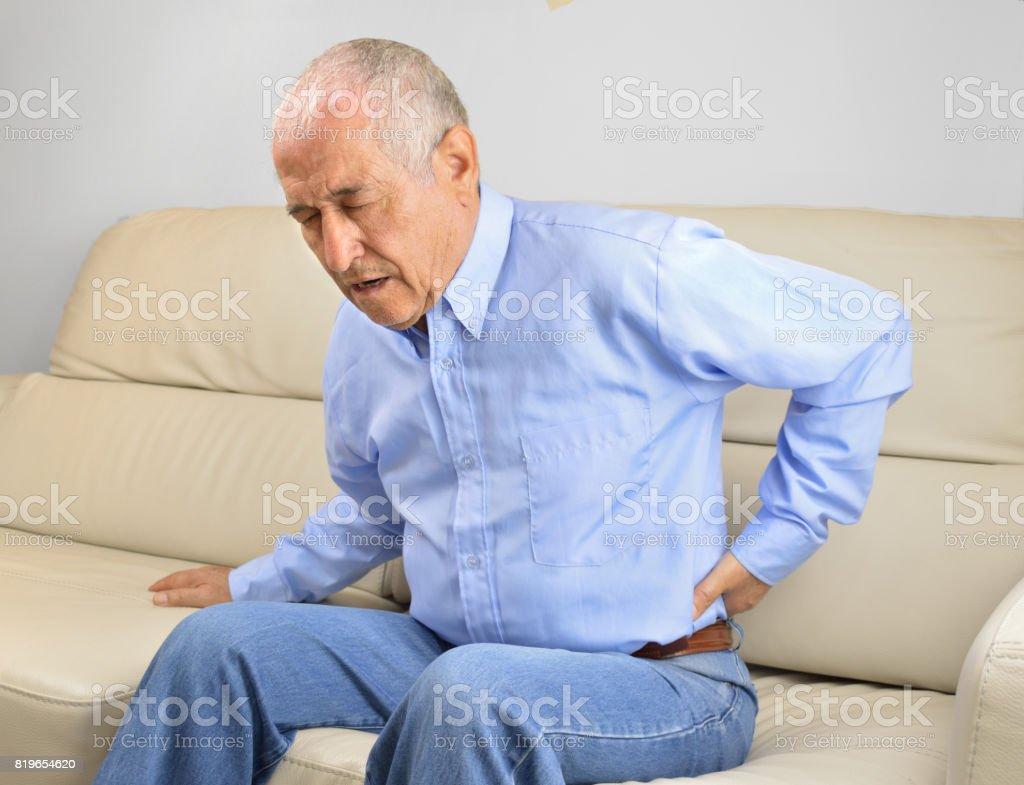 Back pain stock photo