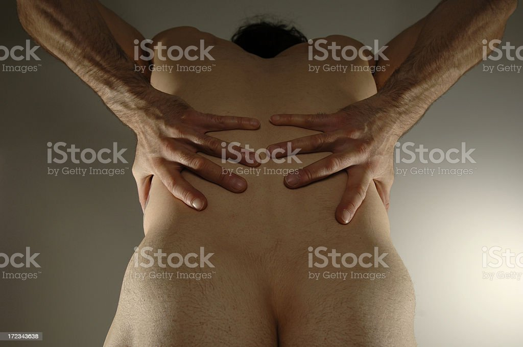 back pain series royalty-free stock photo