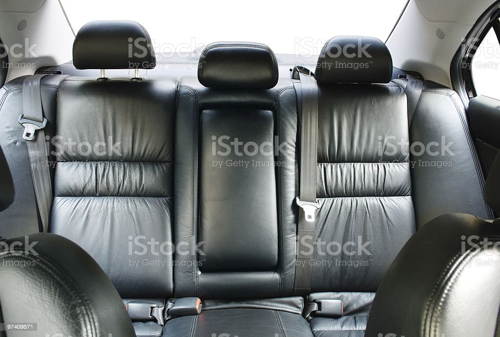 Back passenger seats in a car stock photo
