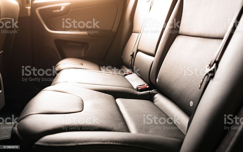 back passenger seats stock photo