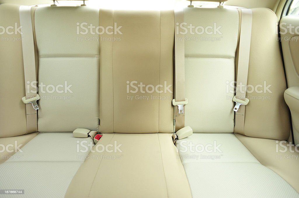 back passenger's seat in car stock photo