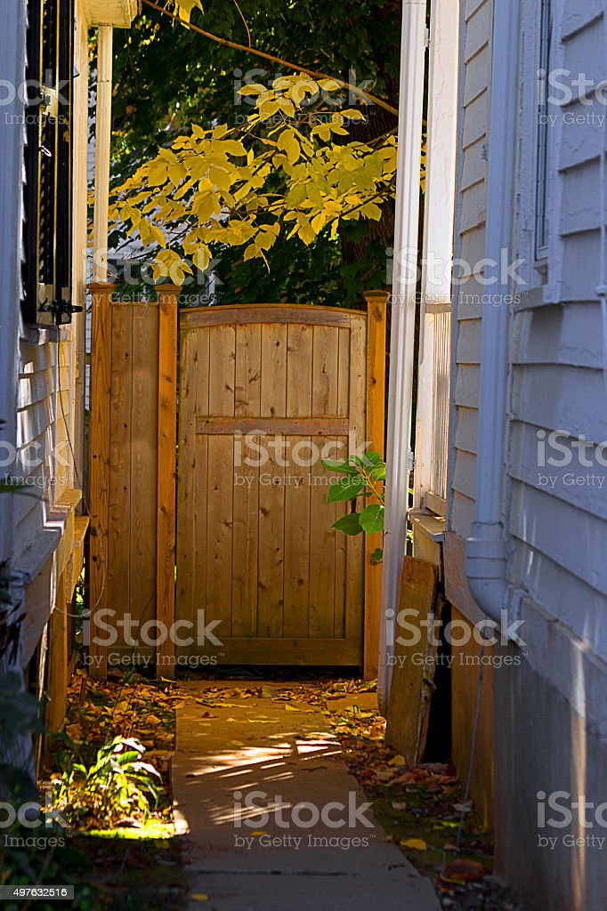 Back Patio Door stock photo