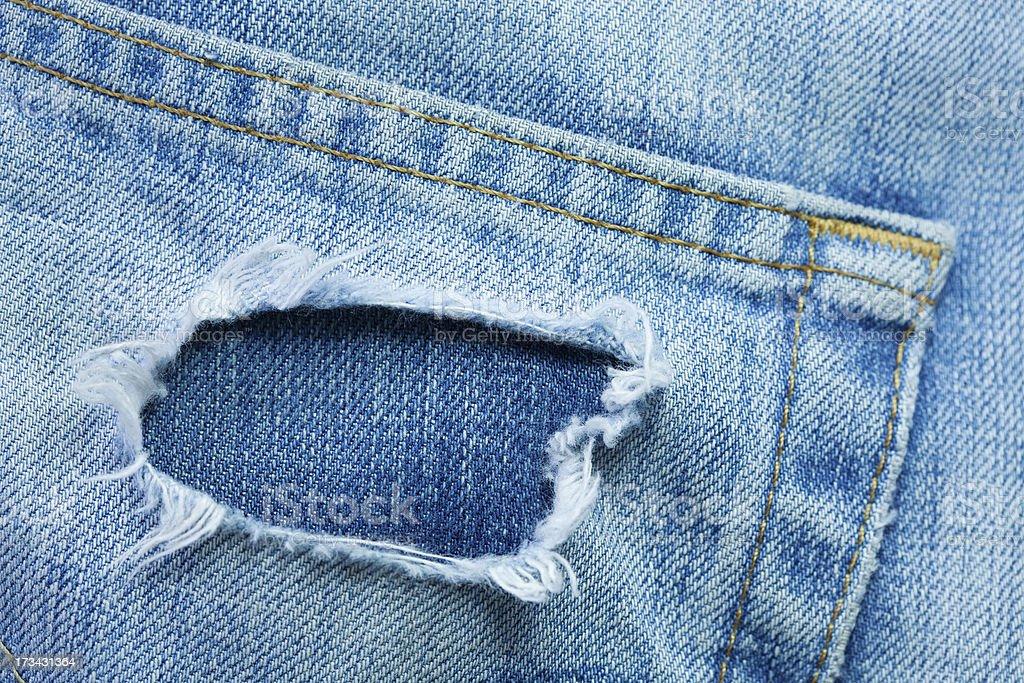 Back pocket denim stock photo