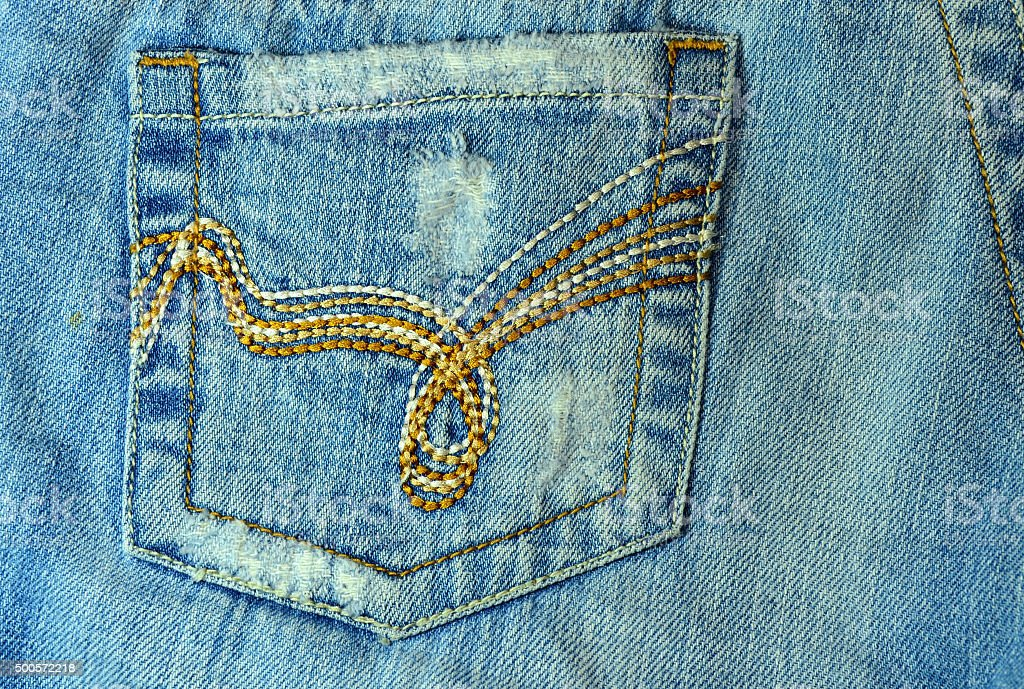 Back pocket jeans stock photo