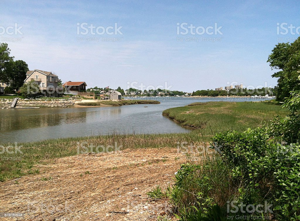 Back River, North Weymouth, Massachusetts stock photo