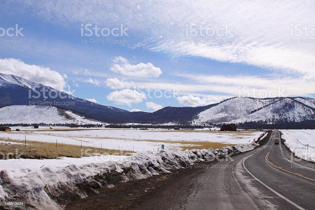 Back road stock photo