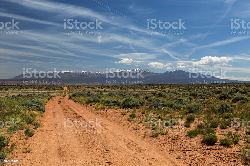 Back Road to Moab Utah stock photo