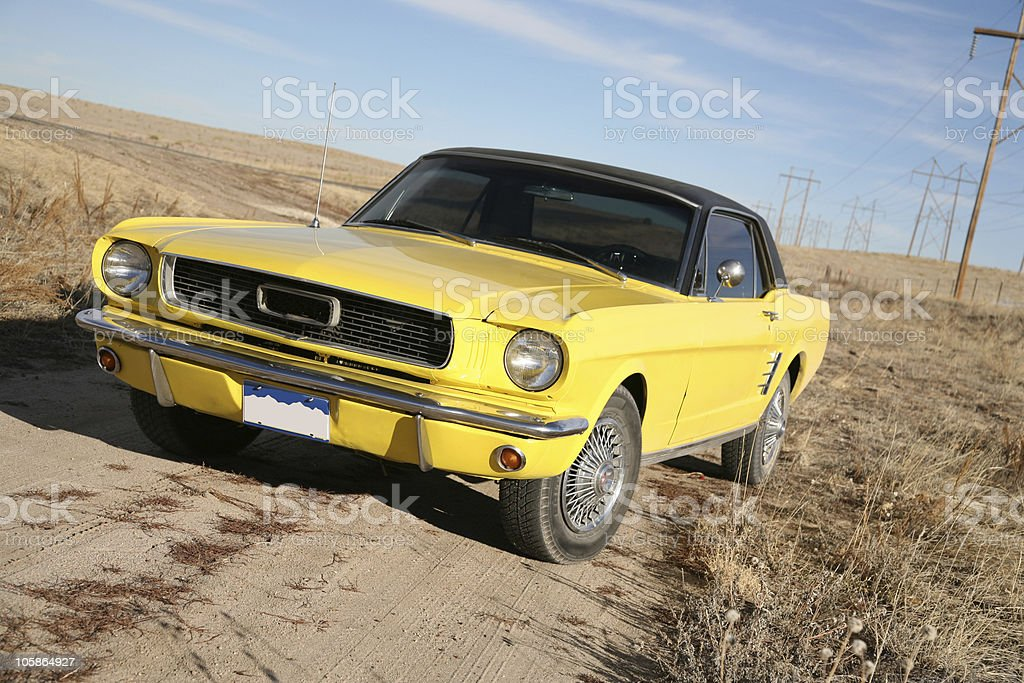 Back Roads in Classic Ride royalty-free stock photo