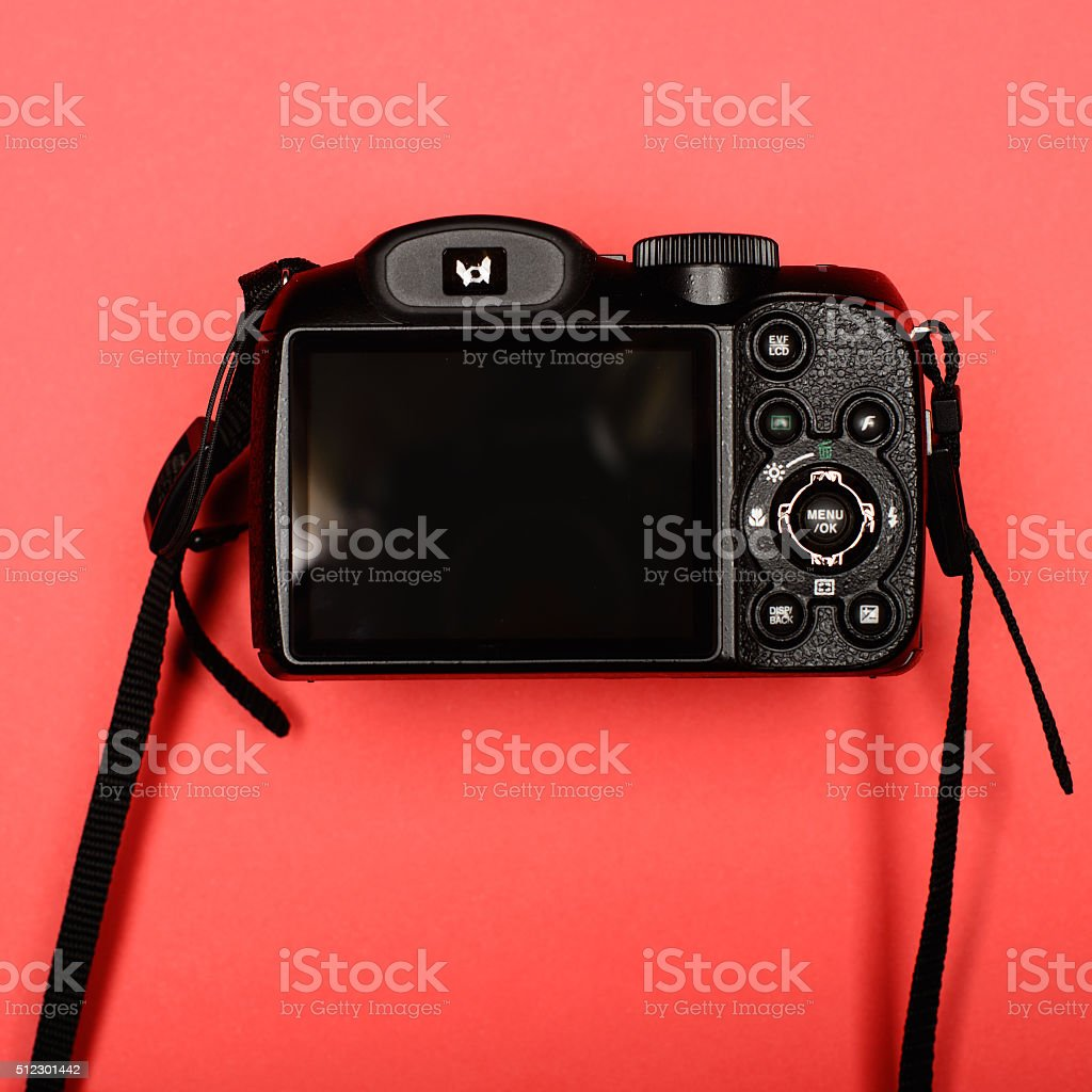 . Back side of a digital camera stock photo