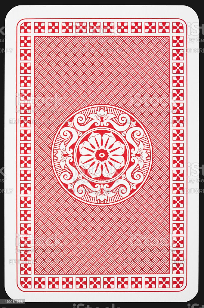 Back side of playing card stock photo