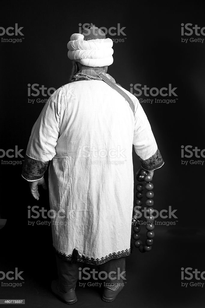 Back Side of Turkish Imam stock photo