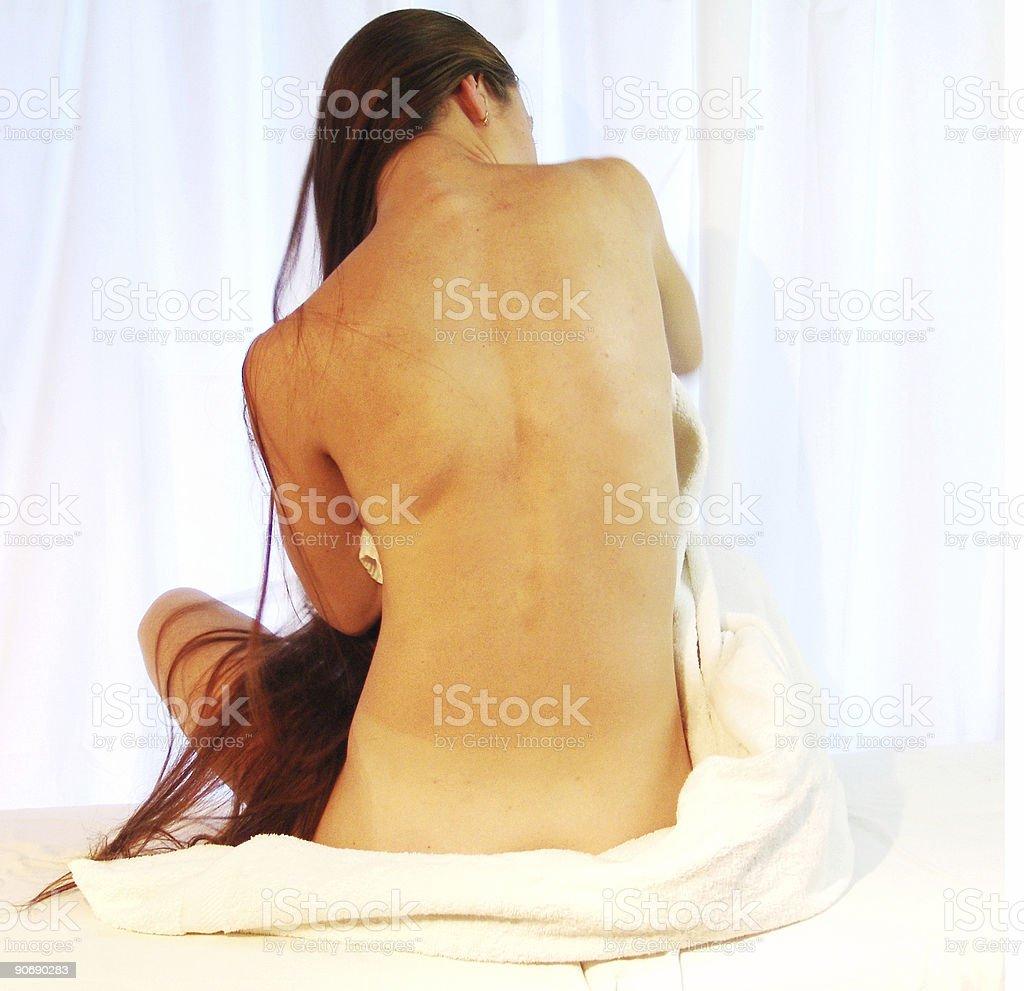 back - spa shot royalty-free stock photo