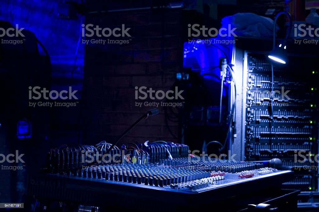 Back stage of concert royalty-free stock photo