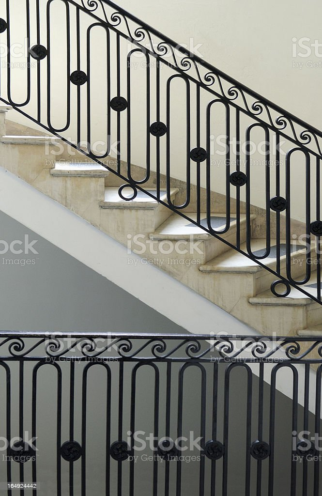 back staircase New York City townhouse royalty-free stock photo