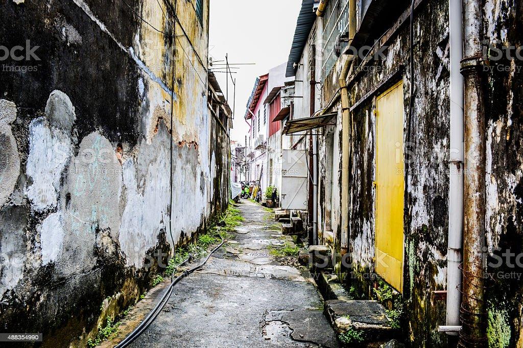 back street stock photo
