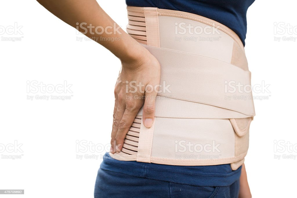 Back support for muscle back stock photo