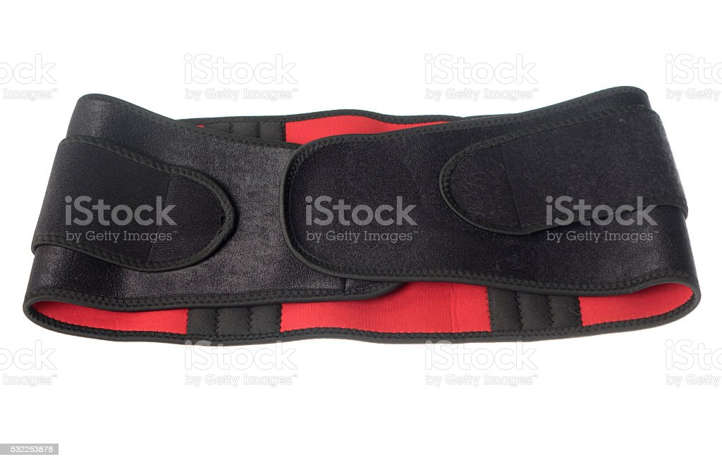 back support waist belt on a white background stock photo