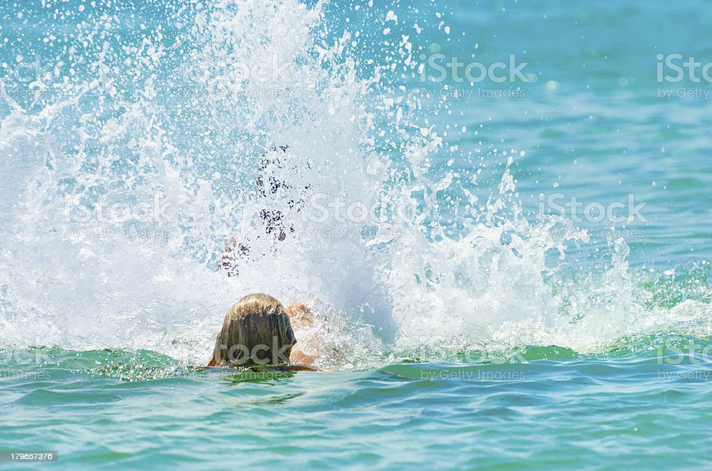 Back swimming. royalty-free stock photo