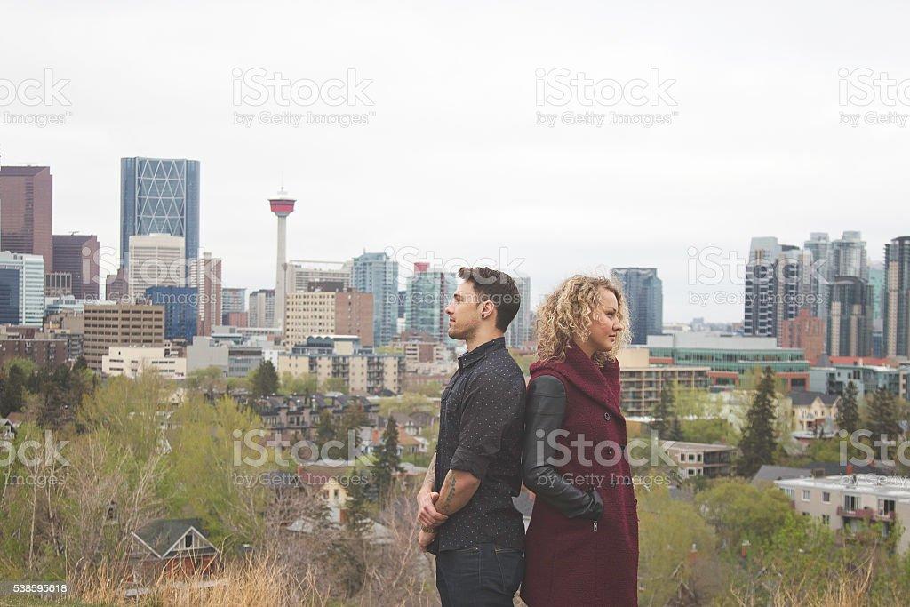 Back to Back Calgary stock photo