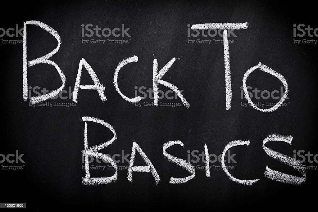 Back to basics stock photo