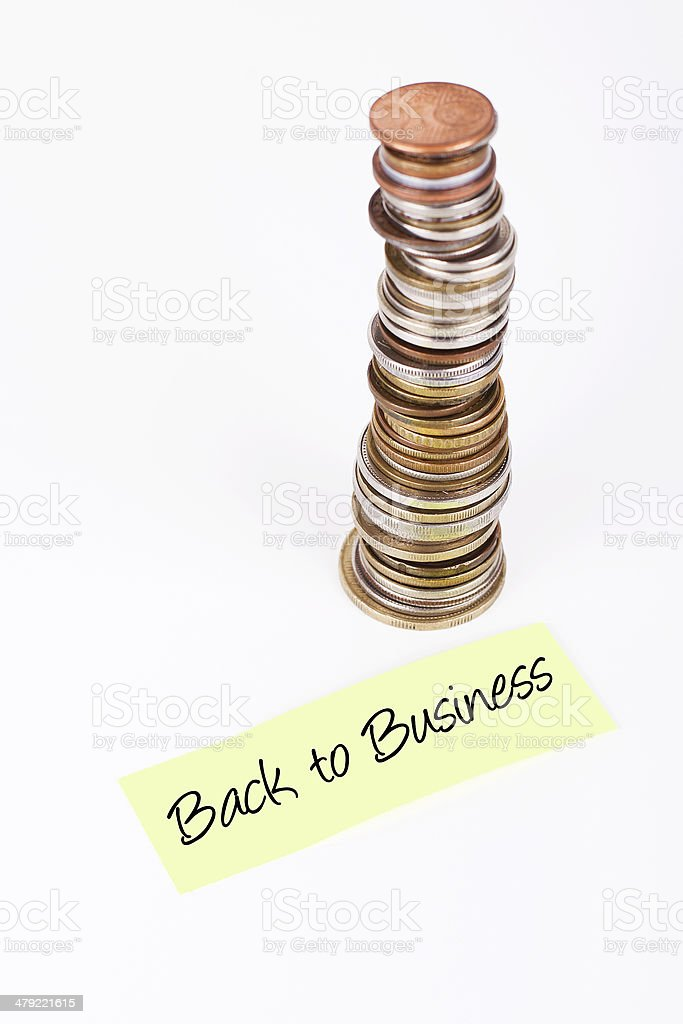 Back To Business stock photo