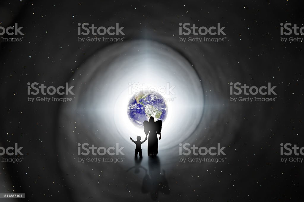 Back To Earth Reincarnation Concept stock photo