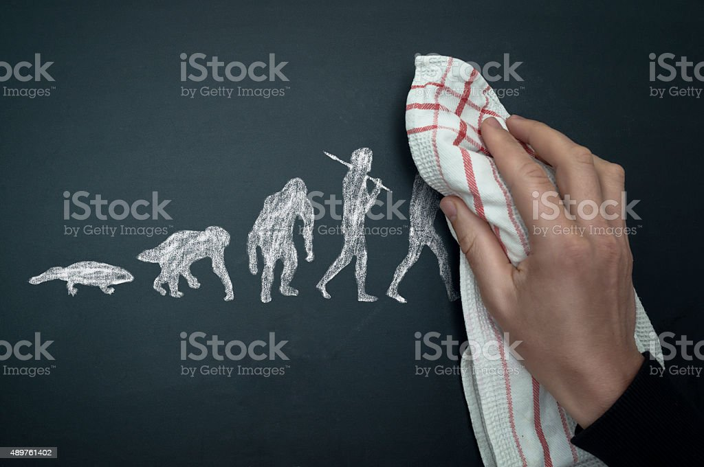 back to evolution stock photo