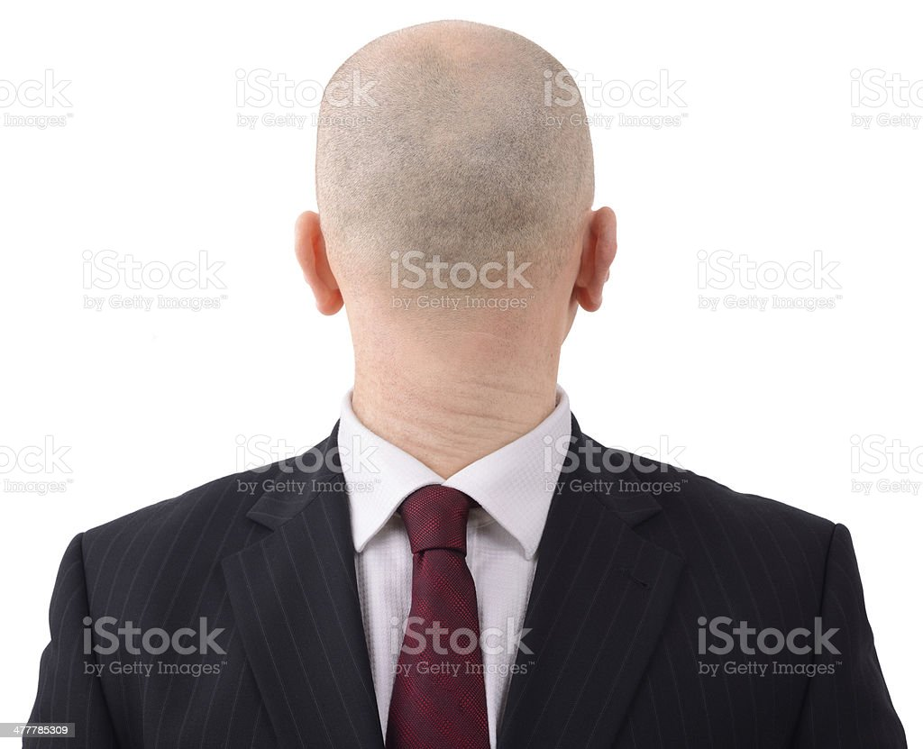 back to front man stock photo