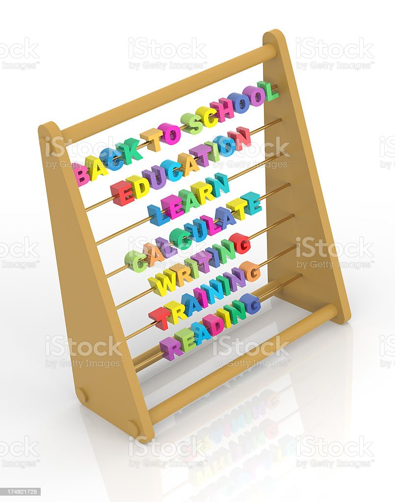 Back to School Abacus royalty-free stock photo