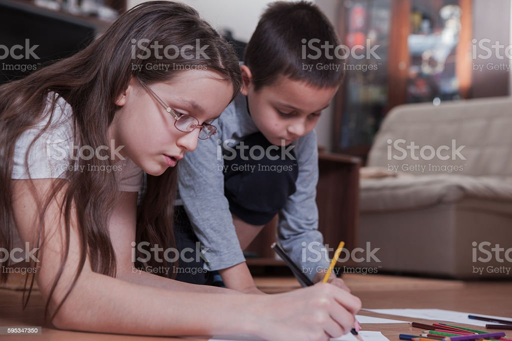 Back to school and homework stock photo