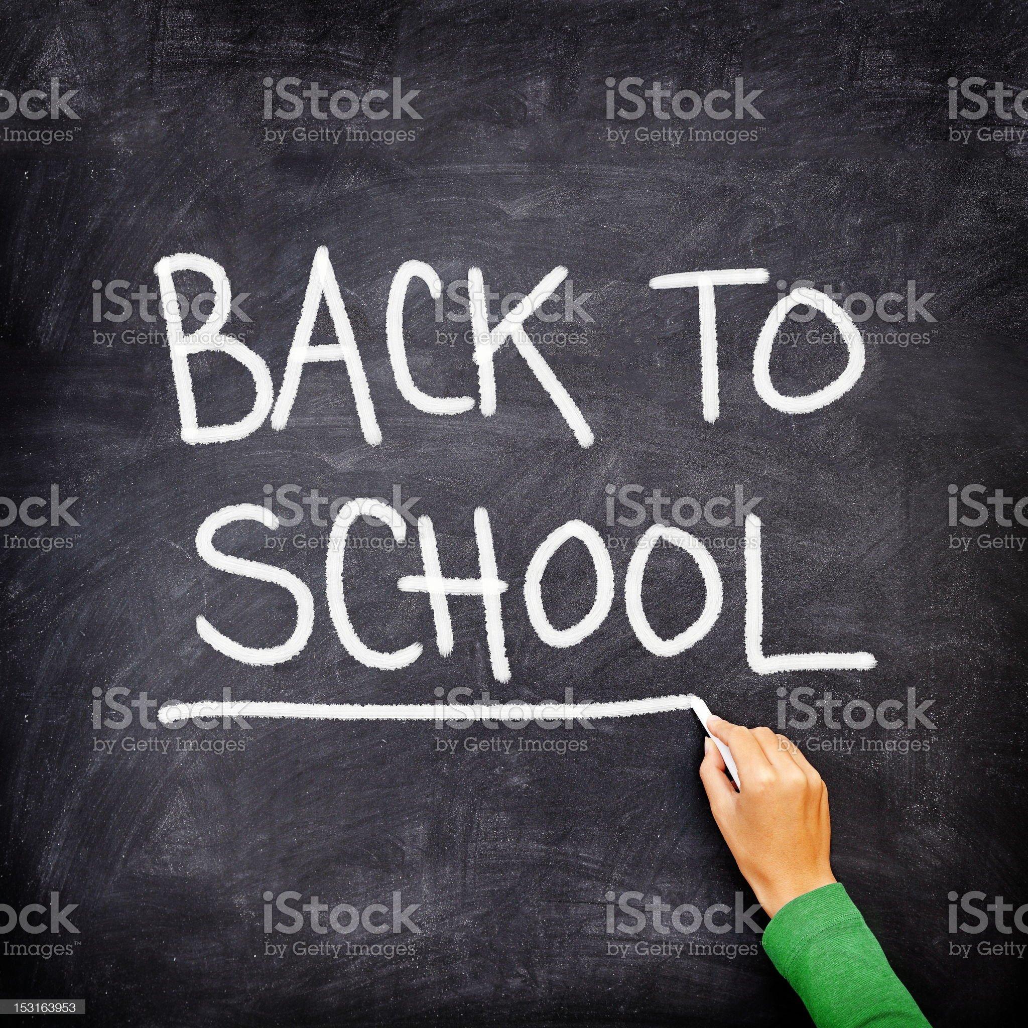 Back to school blackboard / chalkboard royalty-free stock photo